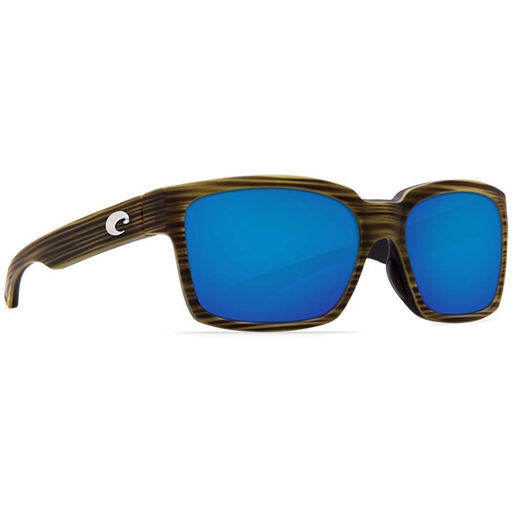 New Costa Del Mar Playa Polarized Sunglasses 580P Matte green Teak bluee Mirror