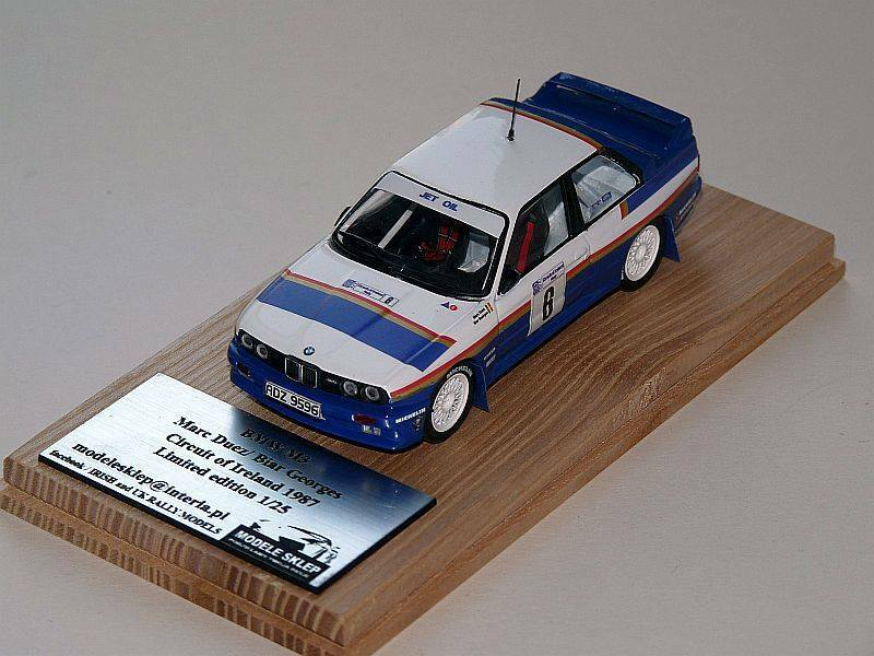 Marc Duez BMW m3 del circuito d'Irlanda 1987 1:43 SCALA CODICE 3 RARA