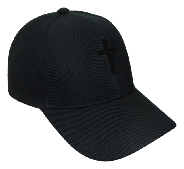 e6bb1ade9c3 Christian Cross Religious Theme Baseball Cap Caps Hat Hats God Jesus Black  Black