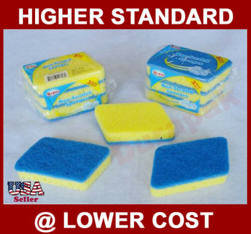 108 Non Scratch Sponge Kitchen Cleaning Pad Two Texture