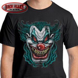 Scary Clown T Shirt Psycho Insane Posse Tee Evil Nightmare