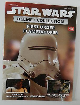 Issue 43 Star Wars Helmet Collection First Order Flametrooper DeAgostini