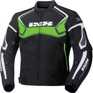 IXS-Textiljacke-Activo-Schwarz-Gruen-Weiss-Motorradjacke