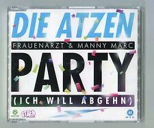 Die Atzen cd-maxi PARTY (Ich will Abgehn) © 2012 German-2-track-CD Extended Mix