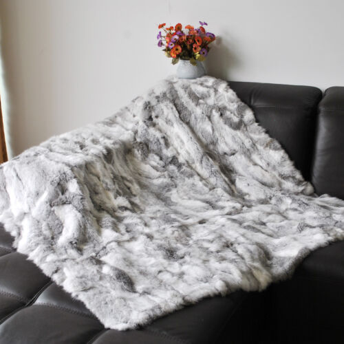 Echter Kaninchenfell wirft bequeme Wohnkultur Kaninchen Decke 62 /'/' X 55 /'/'