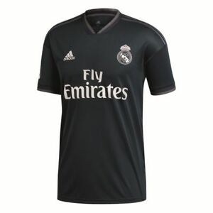 Adidas-senores-futbol-Real-Madrid-CF-away-camiseta-LFP-2018-2019-gris-oscuro-blanco