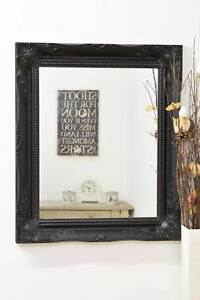 065ddd90a8410 Large Black Ornate Antique Design Big Wall Mirror Bargain 26 X 22 ...