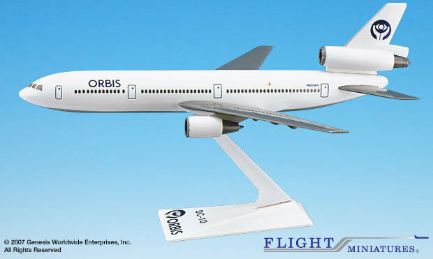 Flight Miniatures Orbis Flying Eye Hospital Douglas DC-10 1 250 Scale New