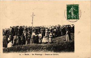 CPA-Biville-Un-Pelerinage-Station-au-Calvaire-633381