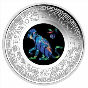2016-Australian-Opal-Lunar-Series-Monkey-Silver-Proof-Coin-sold-out-at-mint