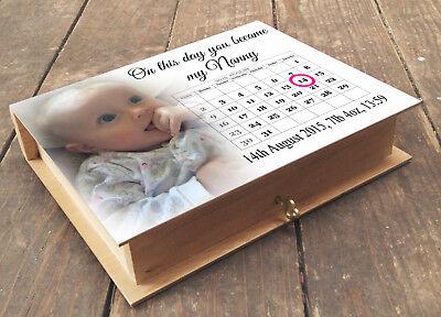 Personalised Nan//Gran,Grandma Photo Album Scrapbook//Memory Gift With Box