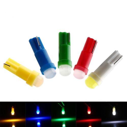 100x T5 LED Wedge 1W F10 Car Instrument Panel Gauge Cluster Dashboard Light Bul