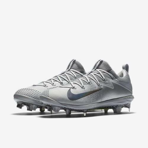 pretty nice 9a990 9781b Nike Lunar Vapor Ultrafly Elite Low Metal Baseball Cleats Grey Size 13 for  sale online | eBay