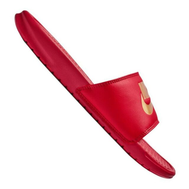 Nike Benassi Men's Slides in Red and