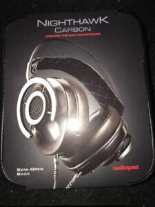 AudioQuest Nighthawk Carbon Headphones - Semi-open Back Around The ... e1f1e521fea3