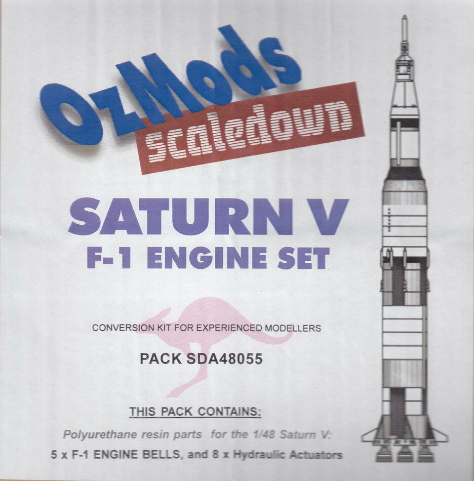 Scaledown 1 48 Saturn V F-1 Engine Set (5 engines)