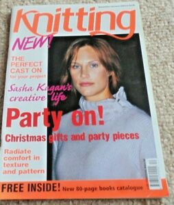 Knitting Magazine Dec/jan 2003/4 Avec Sasha Kagan Zippé Veste-afficher Le Titre D'origine Plus De Rabais Sur Les Surprises