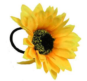 Sunflower-Hairband-Elastic-Bun-Garland-Scrunchie-Hair-Floral-Ponio-Kids-Girls