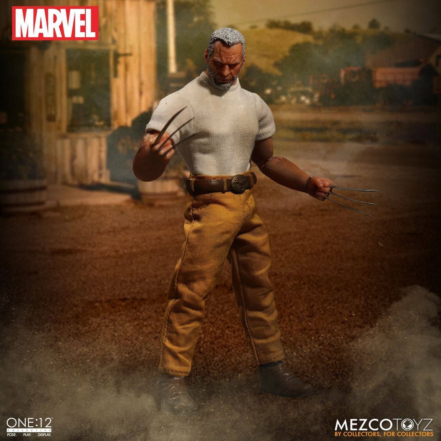 The One 12 12 12 Collective Marvel Old Man Logan Figure by Mezco a6c1ef