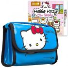 Hello Kitty Happy Happy Family + Blue Carry Bag Nintendo 3DS New & Sealed