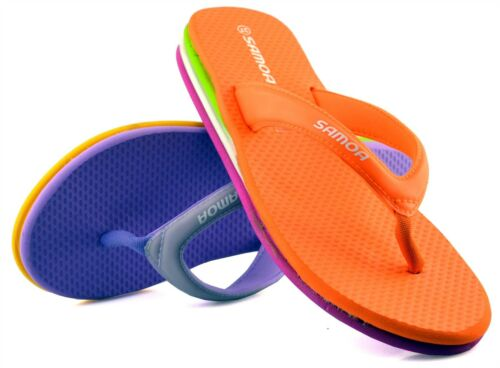 Ladies Womens Sandals Low Wedge Toe Post Beach Mule Flip Flops Shoes Size