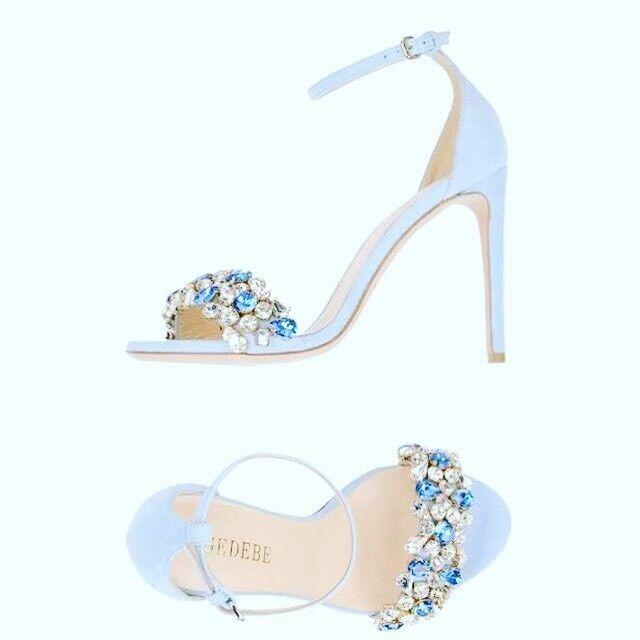 perfezionare Gedebe blu blu blu Crystal Embellished Sandal Dimensione 39.5  vendita economica