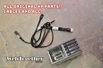 HP ProLiant DL380 G6//G7 Hard Drive Cage+Back Plane 496074-001 463173-001+Cables