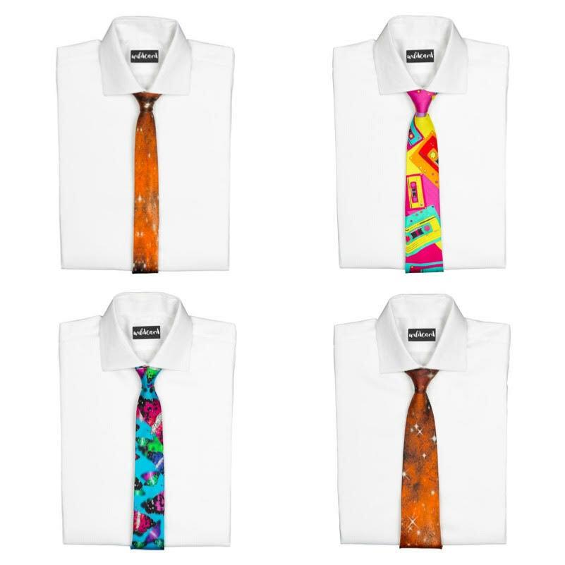 Funky Fun Colourful Tie Necktie Ties Loud Fancy Dress Novelty Men Women New