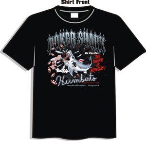 Poker Shark  T-Shirt by High Roller Clothing