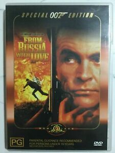 FROM-RUSSIA-WITH-LOVE-007-James-Bond-DVD-Sean-Connery-With-Booklet-R4-FastNFree