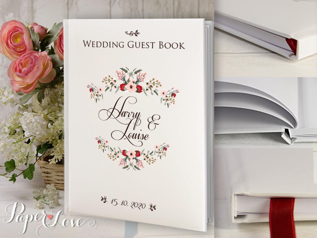 ELEGANT wedding GUESTBOOK personalizzato rosa CoroNA Birdal DOCCIA DOCCIA DOCCIA   Fidanzamento ae7b99