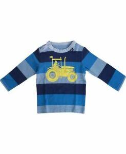 * Nouveau * Danefae Scandi T-shirt Bleu Avec Thor & Tracteur. Taille 80/12 Mois.-afficher Le Titre D'origine Renforcement De La Taille Et Des Nerfs