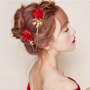 Details About Chinese Wedding Hair Comb Chain Rhinestone Headbands Bridal Hair Accessories