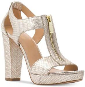 dcc3ec129cb New MICHAEL Kors Berkley T-Strap Platform Dress Sandals zipper ...