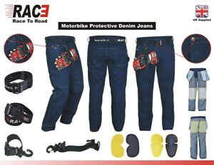 Original-RAC3-Mens-Motorbike-Protective-Armoured-Lining-Denim-Jeans-Trousers