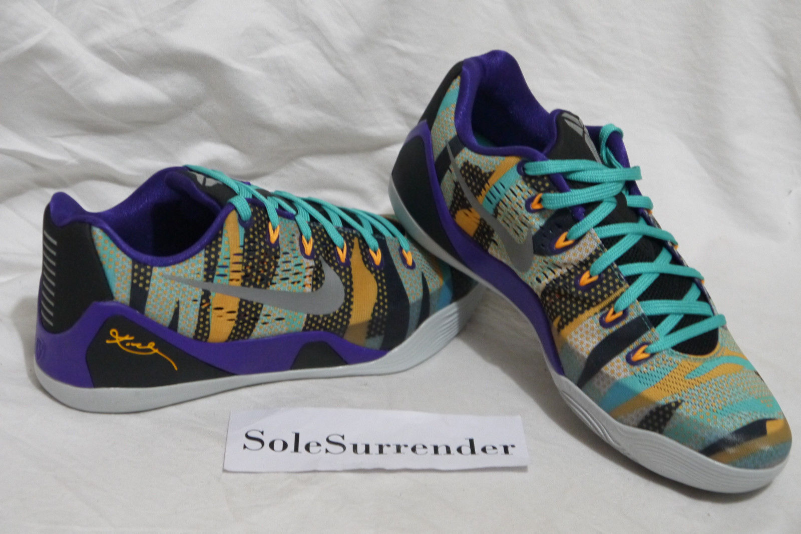 Nike Kobe IX EM Pop Art - CHOOSE SIZE - 646701-508 Low High Multicolor Purple QS