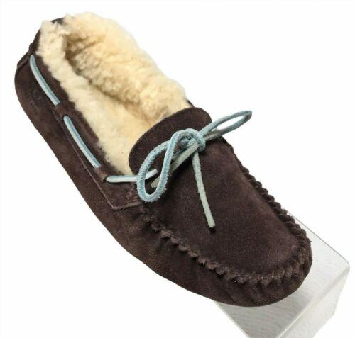 UGG Womens Dakota Moccasin Slippers Size 8 Chocola