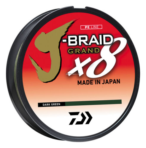 vert foncé JBGD 8U65-300DG Bobine 300 Yd NEW Daiwa J-Tresse Grand 8X 65 lb environ 29.48 kg environ 274.32 m