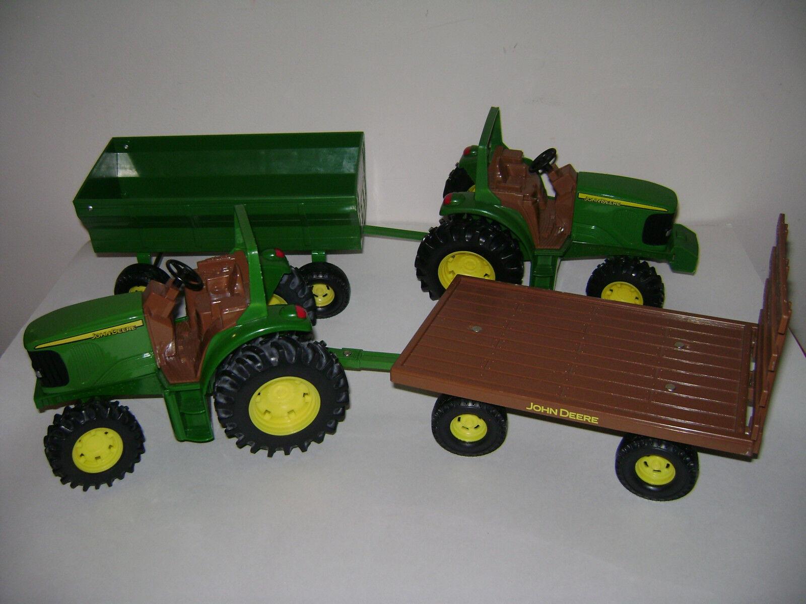 Lot de 4 John Deere diacast 2 tracteur 2 WAGON Hay véhicules agricoles
