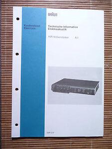 Tv, Video & Audio original Klug Service Manual Für Braun A1