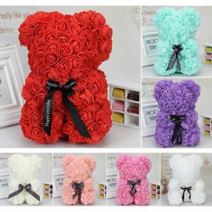 Gift-25cm-40cm-Rose-Teddy-Bear-w-Heart-Flower-For-Girlfriend-Birthday-Wedding