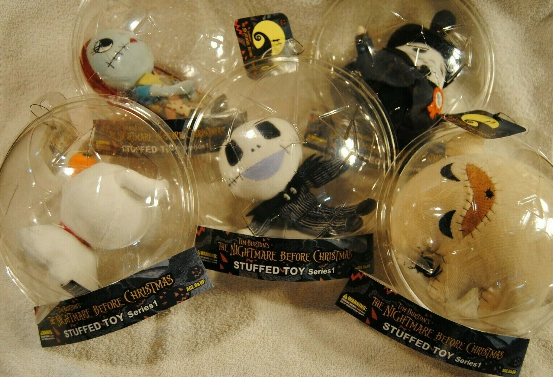 Lot 5 Nightmare Before Christmas Stuffed Toy Series 1 Jun Planning SANTA JACK +