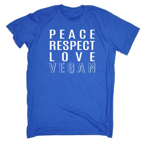 Divertenti Novità T-Shirt UOMO Tee T-Shirt-PACE AMORE PER Vegan