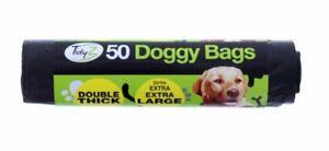 Dog Poo Bags Chien Extra Forte Grande Poignée Cravate Épaisse - Uk Seller