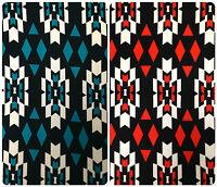 Simple Ganado Tribal Print On Stretch Knit Jersey Polyester Spandex Fabric