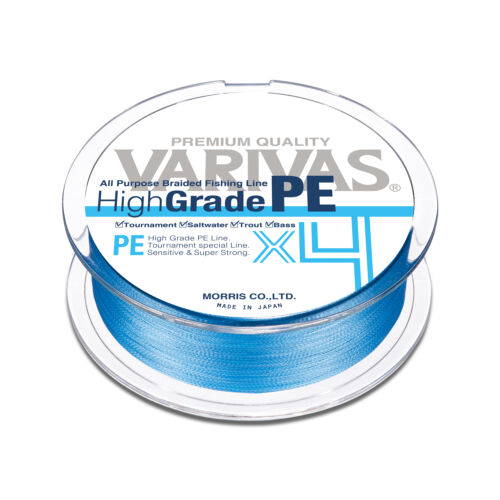 VARIVAS High Grade PE X4 4 Braid PE Line 150m  Water Blue color