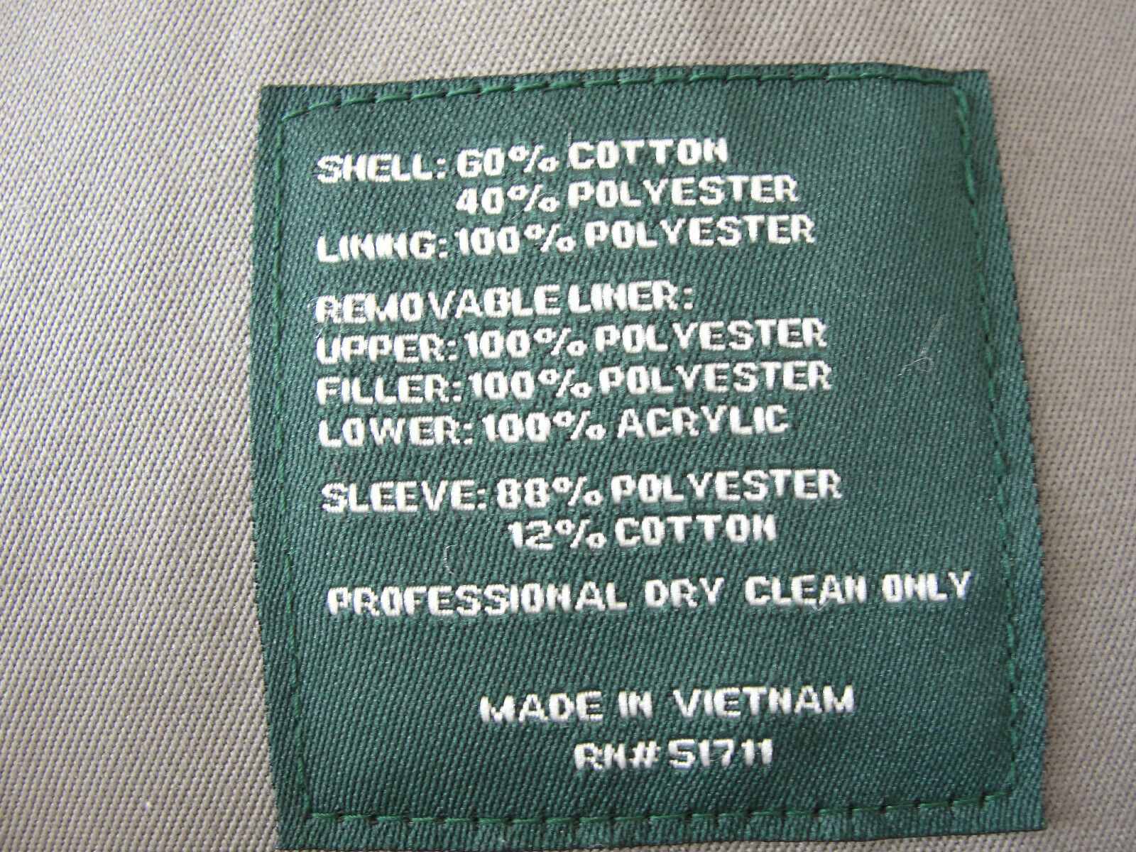 Ralph Lauren Trench coat Olive green Lined Size 4… - image 6