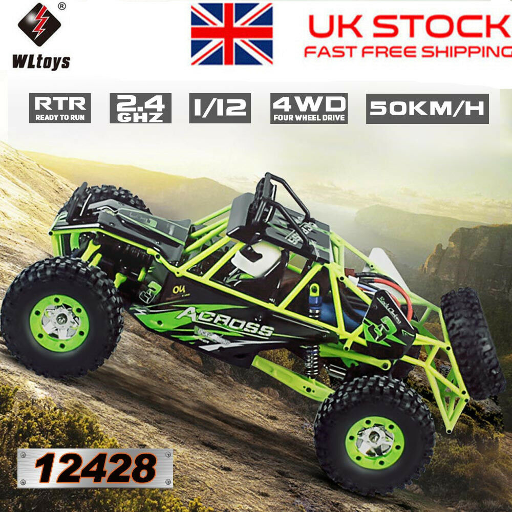 Wltoys 12428 1 12 2.4G 4WD Electric Brushed Crawler RTR RC Car Gift for Boys