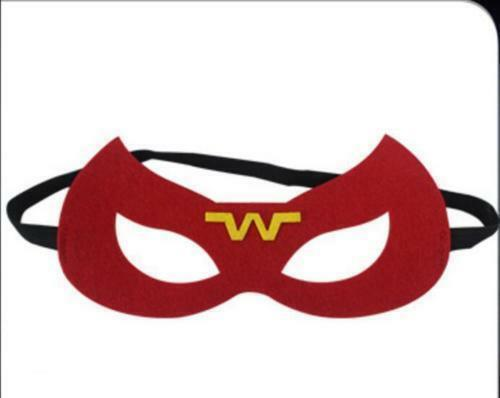 A Wonder woman Cape (only 1 mask) for kids birthday party favors and ideas 75`