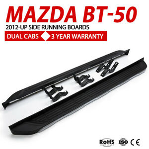 Pair-Side-Steps-Running-Boards-Suits-Mazda-BT-50-2012-UP-Dual-cabs-Black